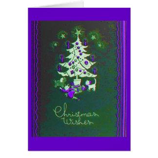 Vintage Tree of Christmas Greeting Card