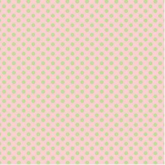 Vintage Trendy Baby Pink Green Polka Dots Pattern Standing Photo Sculpture