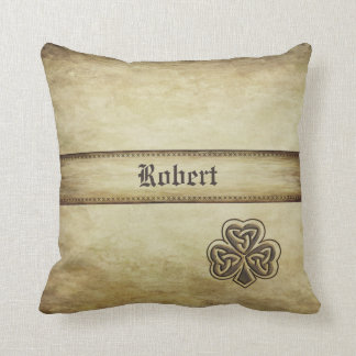 Vintage trendy grundge Irish shamrock personalized Cushion