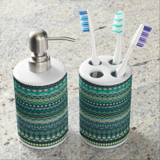 Vintage tribal aztec pattern bathroom set