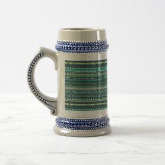 Vintage tribal aztec pattern beer stein