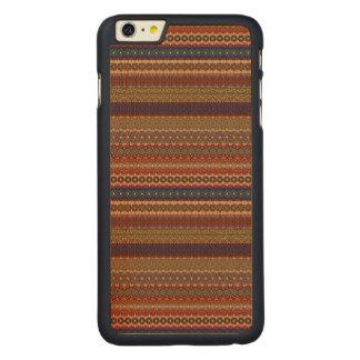 Vintage tribal aztec pattern carved maple iPhone 6 plus case