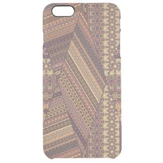 Vintage tribal aztec pattern clear iPhone 6 plus case