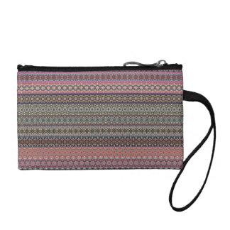 Vintage tribal aztec pattern coin purse