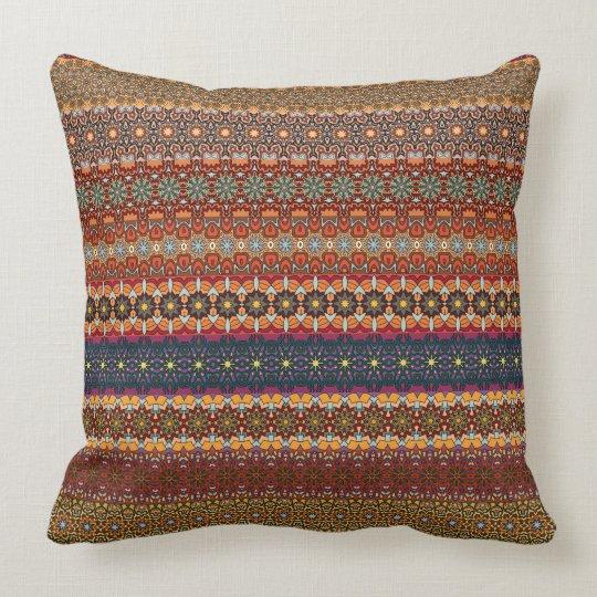 Vintage tribal aztec pattern cushion