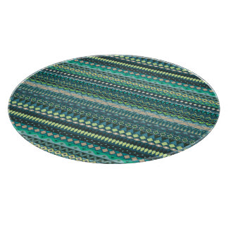 Vintage tribal aztec pattern cutting board
