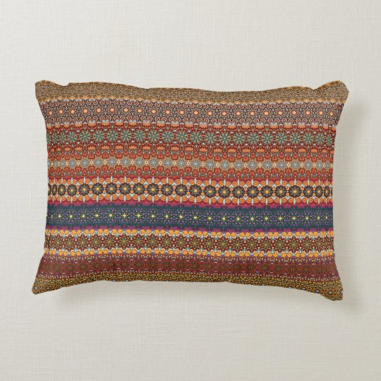 Vintage tribal aztec pattern decorative cushion