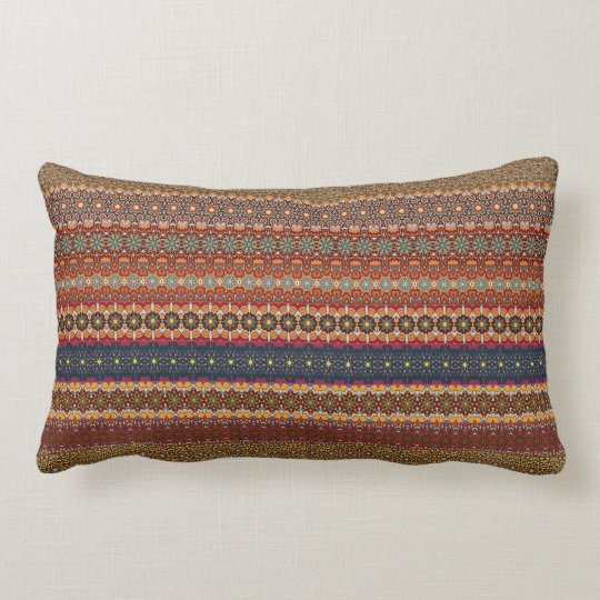 Vintage tribal aztec pattern lumbar cushion