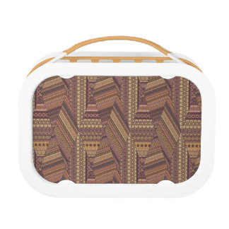 Vintage tribal aztec pattern lunch box