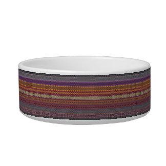 Vintage tribal aztec pattern pet water bowl