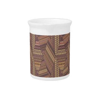 Vintage tribal aztec pattern pitcher