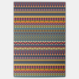 Vintage tribal aztec pattern post-it® notes