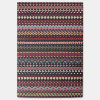 Vintage tribal aztec pattern post-it notes