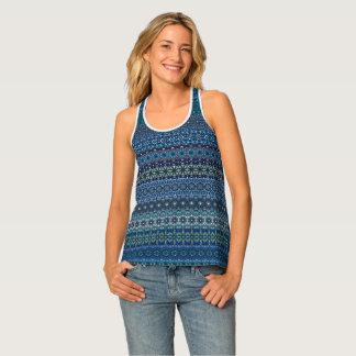 Vintage tribal aztec pattern singlet