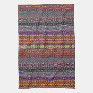 Vintage tribal aztec pattern tea towels
