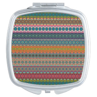 Vintage tribal aztec pattern travel mirrors