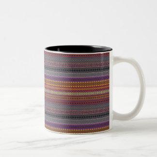 Vintage tribal aztec pattern Two-Tone coffee mug