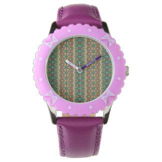 Vintage tribal aztec pattern watch