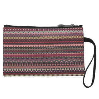 Vintage tribal aztec pattern wristlet
