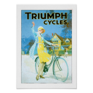 Vintage Triumph Cycles Bicycle Poster Poster
