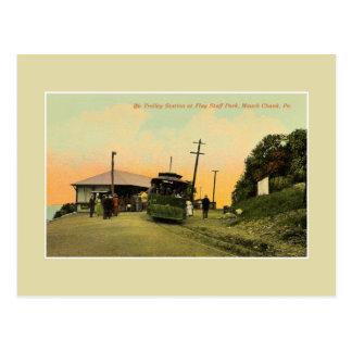 Vintage trolley station Mauch Chunk Pennsylvania Postcard