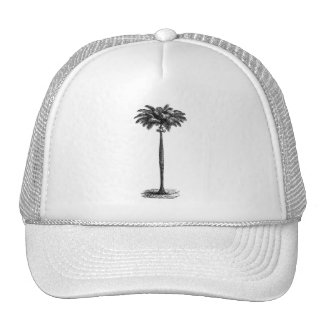 Vintage Tropical Island Palm Tree Template Blank Cap