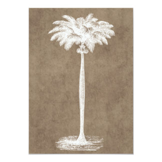 Vintage Tropical Island Palm TreeTemplate Blank Card