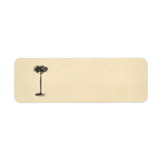 Vintage Tropical Island Palm Tree Template Blank Return Address Label