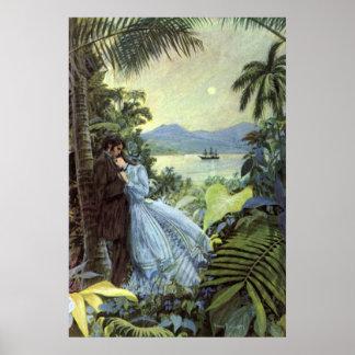 Vintage Tropical Love Poster