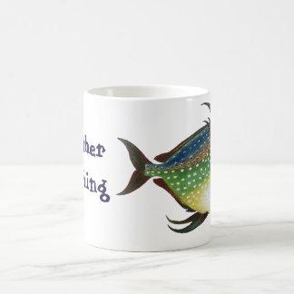 Vintage Tropical Opah Fish, I'd Rather be Fishing Coffee Mug