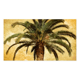 Vintage Tropical Palm Tree Pack Of Standard Business Cards