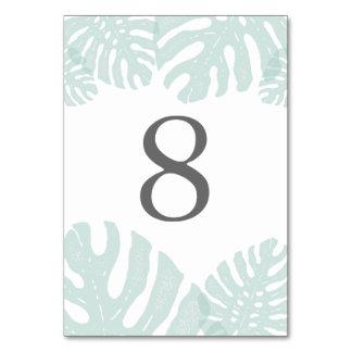 Vintage Tropics Table Number Card