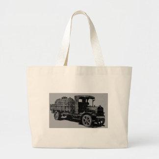 vintage truck antique look cool steampunk art tote bag