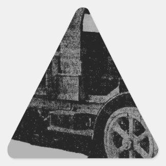 vintage truck antique look cool steampunk art triangle sticker