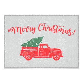 Vintage Truck Christmas Card