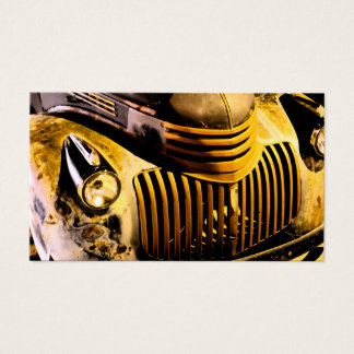 Vintage Truck Front Grill Business Card
