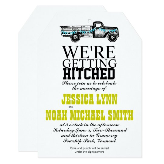 Vintage Truck Wedding Invitation