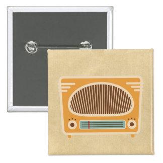 Vintage Tube Radio Collector 15 Cm Square Badge