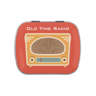 Vintage Tube Radio Collector Candy Tins
