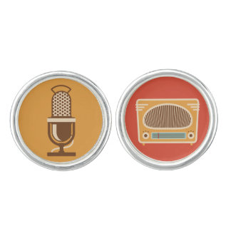 Vintage Tube Radio Collector Cuff Links