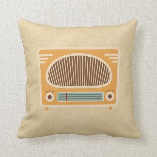 Vintage Tube Radio Collector Throw Pillow