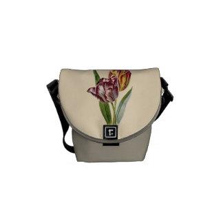 Vintage Tulip Flower Graphic Messenger Bag