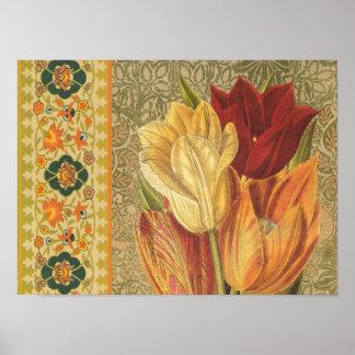 Vintage Tulip Flower Poster