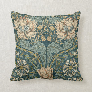 Vintage Tulips by William Morris Throw Pillow