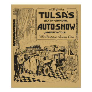 Vintage Tulsa 1922 Automobile show newspaper ad Poster