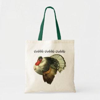 Vintage Turkey Budget Tote Tote Bags