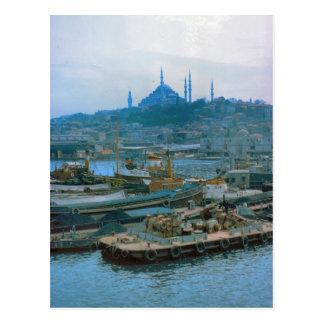 Vintage Turkey Istanbul Dredgers, Bosphoros Postcard