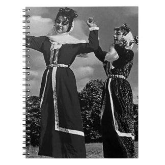 Vintage Turkey Istanbul turkish dance 1970 Spiral Note Book