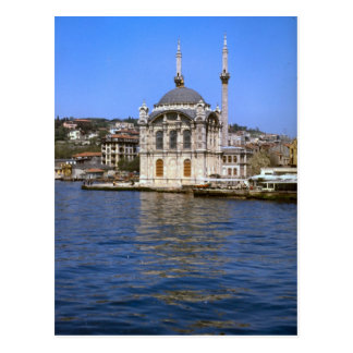 Vintage Turkey - Istanbul Waterfront and mosque Postcard