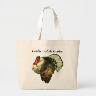 Vintage Turkey Jumbo Tote Bags